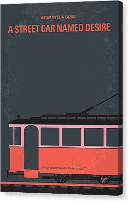 No397 My Street Car Named Desire Minimal Movie Poster Canvas Print by Chungkong Art