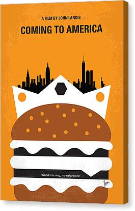 No402 My Coming To America Minimal Movie Poster Canvas Print by Chungkong Art
