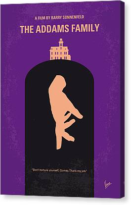 No423 My The Addams Family Minimal Movie Poster Canvas Print by Chungkong Art