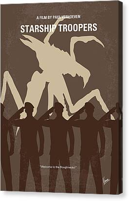 No424 My Starship Troopers Minimal Movie Poster Canvas Print by Chungkong Art