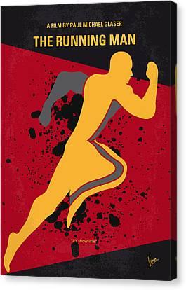 No425 My Running Man Minimal Movie Poster Canvas Print by Chungkong Art
