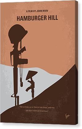No428 My Hamburger Hill Minimal Movie Poster Canvas Print by Chungkong Art