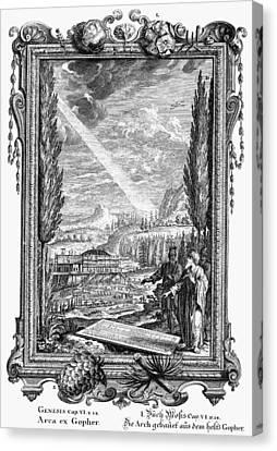 Noah Building The Ark Canvas Print by Granger