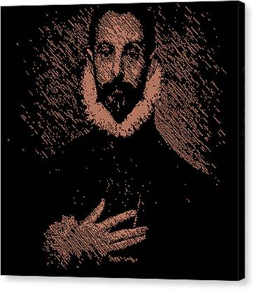 Noble Man With His Hand On His Chest Canvas Print by Chris Lopez