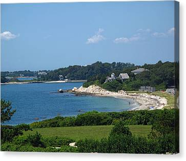 Nobska Beach Canvas Print by Barbara McDevitt