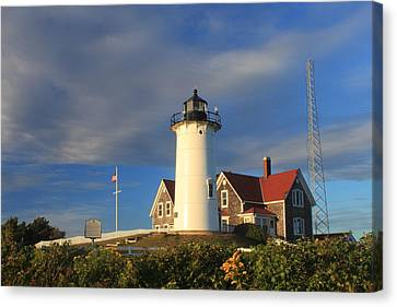 Nobska Lighthouse Cape Cod Canvas Print by John Burk