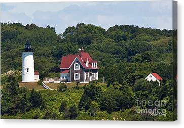 Nobska Lighthouse Cape Cod Canvas Print by Michelle Wiarda