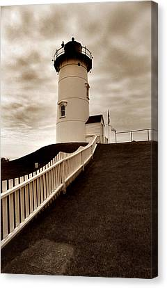 Nobska Lighthouse Canvas Print by Skip Willits