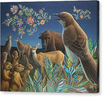 Nocturnal Cantata Canvas Print by James W Johnson