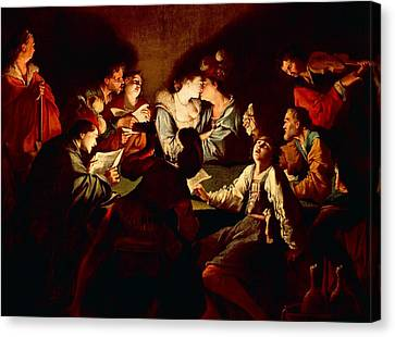 Nocturnal Concert Canvas Print by Jean  Leclerc