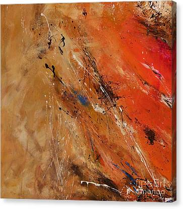 Noise Of The True Feelings - Abstract Canvas Print by Ismeta Gruenwald