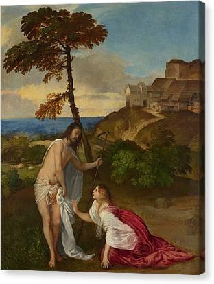 Noli Me Tangere Canvas Print by Titian