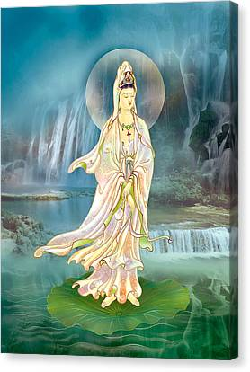 Non-dual Kuan Yin Canvas Print by Lanjee Chee