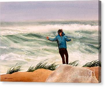 Nor 'easter Canvas Print by Karol Wyckoff
