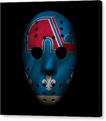 Nordiques Jersey Mask Canvas Print by Joe Hamilton