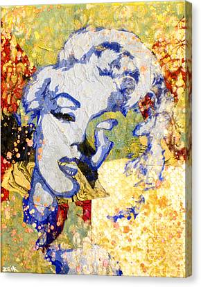 Norma Jean Be Fading Fast Canvas Print by Bobby Zeik