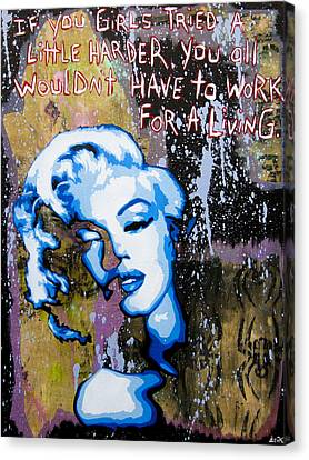 Norma Jean Canvas Print by Bobby Zeik