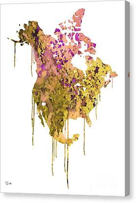 North America Canvas Print by Luke and Slavi