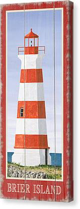 North American Lighthouses - Brier Canvas Print by Gail Fraser