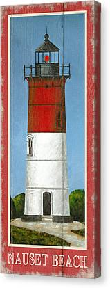 North American Lighthouses - Nauset Canvas Print by Gail Fraser