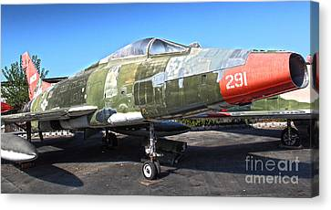 North American Super Sabre Qf-100d Canvas Print by Gregory Dyer