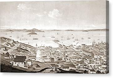 North Beach San Francisco 1861 Canvas Print by Padre Art