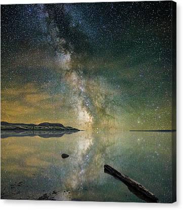 North Bend Milky Way Canvas Print by Aaron J Groen