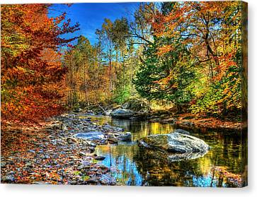 North Branch In Fall Canvas Print by John Nielsen