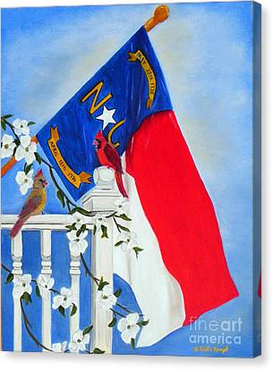 North Carolina - A State Of Art Canvas Print by Shelia Kempf