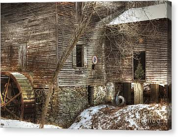 North Carolina Grist Mill Canvas Print by Benanne Stiens