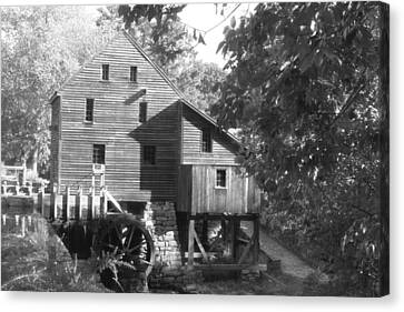 North Carolina Watermill Canvas Print by Dwight Cook
