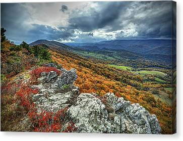 North Fork Mountain Overlook Canvas Print by Jaki Miller