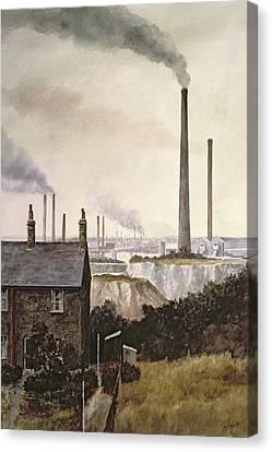 North Kent Landscape  Nr Northfleet Gravesend Canvas Print by Vic Trevett