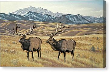 North Of Yellowstone Canvas Print by Paul Krapf