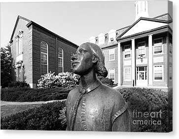 North Park College Nyvall Hall Sculpture Canvas Print by University Icons