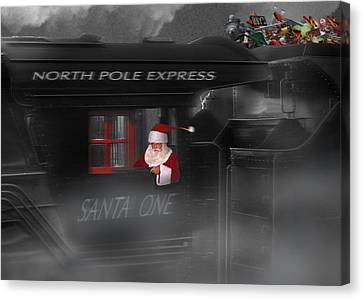 North Pole Express Canvas Print by Mike McGlothlen