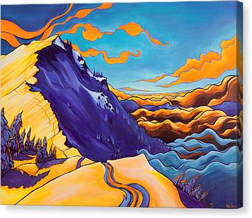 North Ridge Alpenglow Canvas Print by Rachel Pohl