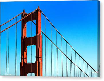 North Tower Golden Gate Canvas Print by Garry Gay