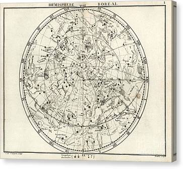 Northern Constellations, 18th Century Canvas Print by United States Naval Observatory