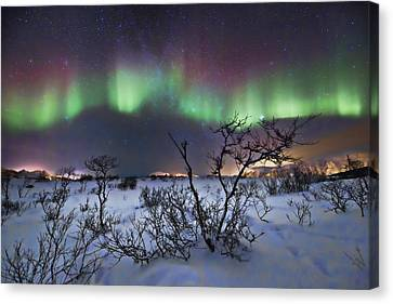 Northern Lights - Creative Editing Canvas Print by Frank Olsen