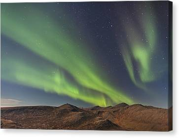 Northern Lights Above Eagle Summit And Canvas Print by Kevin Smith