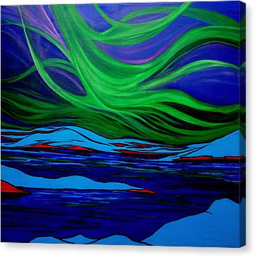 Northern Lights Canvas Print by Kathy Peltomaa Lewis