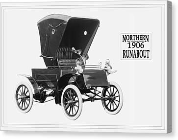 Northern Runabout Convertible 1906. Canvas Print by Unknown Photographer
