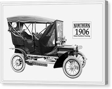 Northern Silent Touring Car I 1906.  Canvas Print by Unknown Photographer