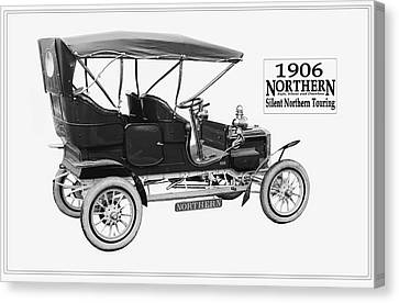 Northern Silent Touring Car II 1906.  Canvas Print by Unknown Photographer