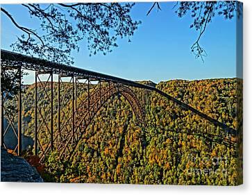 Northwest View Of Gorge Bridge Canvas Print by Timothy Connard