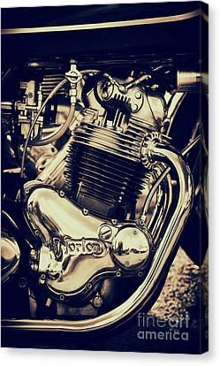Norton Commando 750cc Engine Canvas Print by Tim Gainey