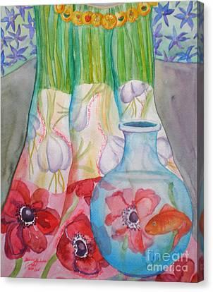 Noruz Rebirth And Reunion II Canvas Print by Shirin Shahram Badie