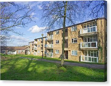 Norwich Apartments Canvas Print by Tom Gowanlock