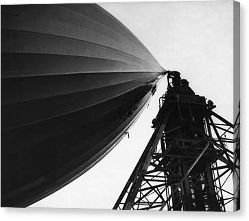 Nose Of The Hindenburg Canvas Print by Underwood Archives